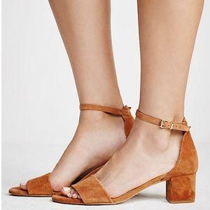 NWOT free People marigold block heels